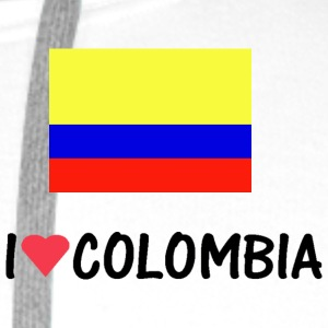 Wit i_love_colombia T-shirts - Mannen Premium hoodie