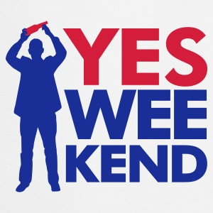 Wit Yes Wee-kend T-shirts - Keukenschort