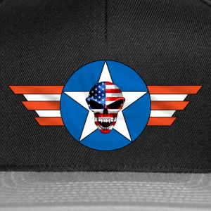 Noir skull us army T-shirts - Casquette snapback