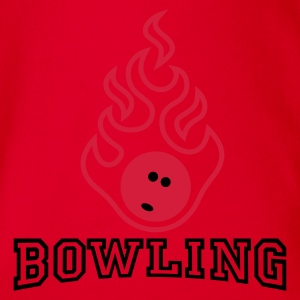 bowling_fire_2c Shirts - Organic Short-sleeved Baby Bodysuit