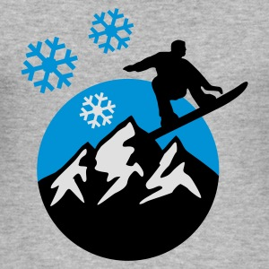 snowboard_mountains_c_3c Tröjor - Slim Fit T-shirt herr