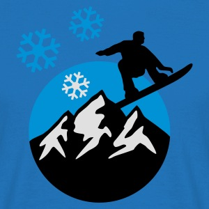 snowboard_mountains_c_3c  Aprons - Men's T-Shirt