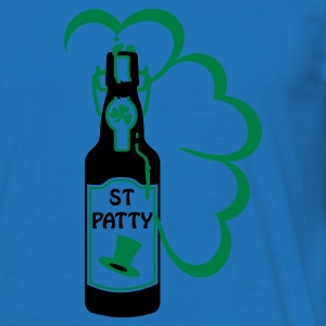 Grön st patty bottle (2c) Tröjor - T-shirt herr