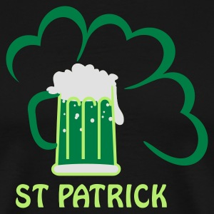 Black st patrick beer (3c)  Aprons - Men's Premium T-Shirt