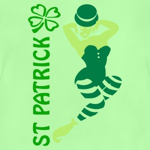 Leaf green st patrick pinup (2c) Bags  - Baby T-Shirt
