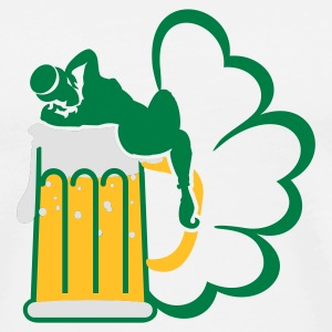 White/black st patrick beer 'n girls (3c) Long sleeve shirts - Men's Premium T-Shirt