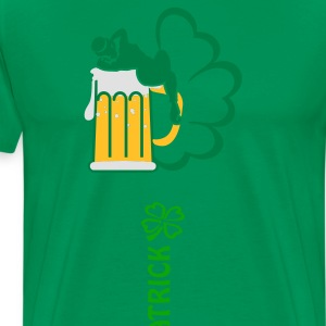 Green st patrick text (1c)  Aprons - Men's Premium T-Shirt