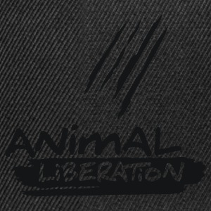 Mens Basic-Shirt 'Animal Liberation' - Czapka typu snapback