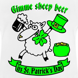 st_patricks_sheep_white Shirts - Baby T-shirt