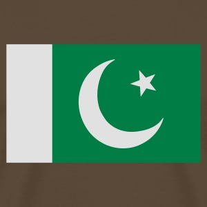Chocolate Flag of Pakistan Long Sleeve Shirts - Men's Premium T-Shirt