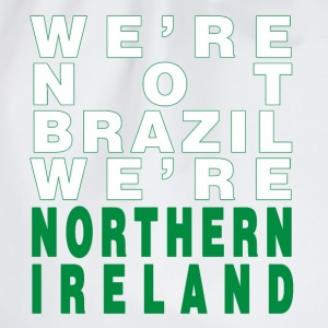 White We're Not Brazil We're Northern Ireland Men's T-Shirts - Drawstring Bag