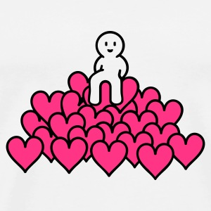 Vit heap of love (2c) Väskor - Premium-T-shirt herr