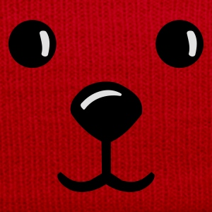Red/white teddy face gesich smile teddybär Bags  - Winter Hat