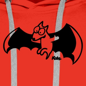 Rouge Flying Fox T-shirts - Sweat-shirt à capuche Premium pour hommes