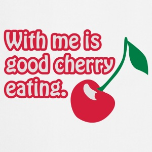 Weiß Cherry eating © T-Shirts - Cooking Apron