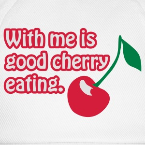Weiß Cherry eating © T-Shirts - Baseball Cap