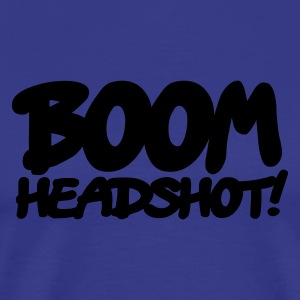 King's blue boom headshot! 1c UK Kids' Tops - Men's Premium T-Shirt