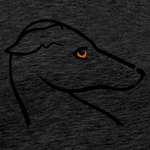 Brun Windhund-Kopf / greyhound head (2c) Sweatshirts - Herre premium T-shirt