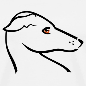 Gråmelert Windhund-Kopf / greyhound head (2c) Barnegensere - Premium T-skjorte for menn