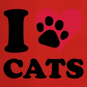 Rouge chat - I love cats T-shirts - Tablier de cuisine