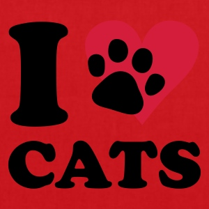 Red CAT - I love cats Women's T-Shirts - Tote Bag