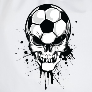 Bianco soccer skull kicker ball football pirat Pullover - Sacca sportiva