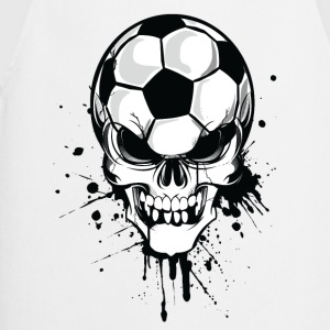 Hvit soccer skull kicker ball football pirat Gensere - Kokkeforkle