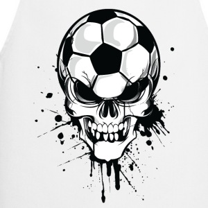 Blanco soccer skull kicker ball football pirat Sudadera - Delantal de cocina