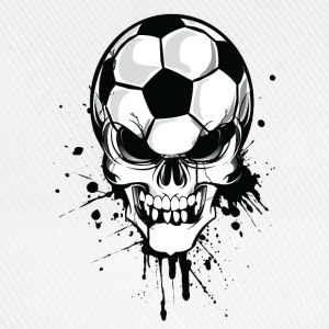 Hvit soccer skull kicker ball football pirat Gensere - Baseballcap