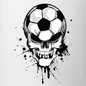 Hvit soccer skull kicker ball football pirat Gensere - Kopp