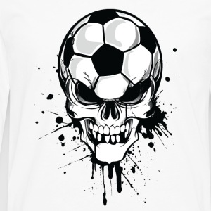 Wit soccer skull kicker ball football pirat Sweaters - Mannen Premium shirt met lange mouwen