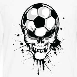 White soccer skull kicker ball football pirat Hoodies & Sweatshirts - Men's Premium Longsleeve Shirt