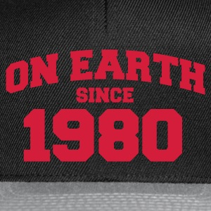 Noir onearth1980 T-shirts - Casquette snapback