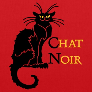 Rouge chat noir 'n (text, 2c) Tabliers - Tote Bag