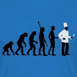 evolution_koch_2c Kookschorten - Mannen T-shirt