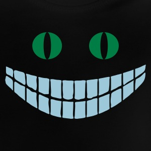 Marineblå Alice in Wonderland: Cheshire cat (2c) Børne sweatshirts - Baby T-shirt