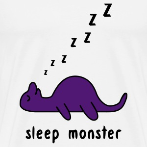 White Sleep Monster Hoodies & Sweatshirts - Men's Premium T-Shirt