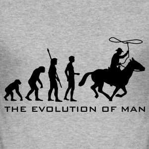 evolution_cowboy_b Gensere - Slim Fit T-skjorte for menn