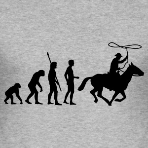 evolution_cowboy Sweatshirts - Herre Slim Fit T-Shirt