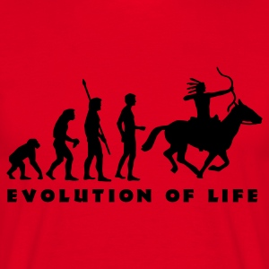 evolution_indianer_b Gensere - T-skjorte for menn