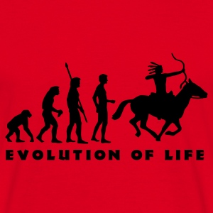 evolution_indianer_b Hoodies & Sweatshirts - Men's T-Shirt