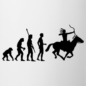 evolution_indianer T-skjorter - Kopp