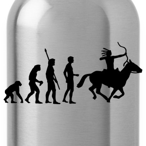 evolution_indianer T-Shirts - Water Bottle