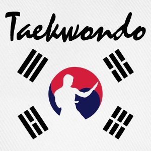 White taekwondo_5 Men's T-Shirts - Baseball Cap