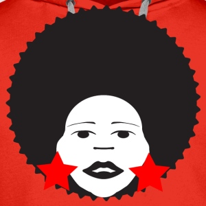 Red afro woman red Men's T-Shirts - Men's Premium Hoodie