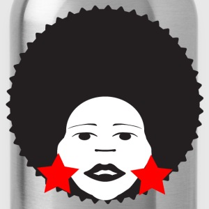 Red afro woman red Men's T-Shirts - Water Bottle