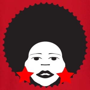 Red afro woman red Men's T-Shirts - Baby Long Sleeve T-Shirt