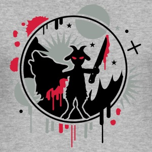 Heather grey The wolf and the goat  Hoodies & Sweatshirts - Men's Slim Fit T-Shirt