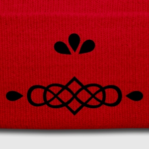 Rosso ornament infinity 'n leaves (1c) Borse - Cappellino invernale