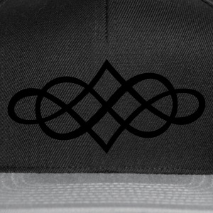 Black infinity ornament (1c) Teddies - Snapback Cap